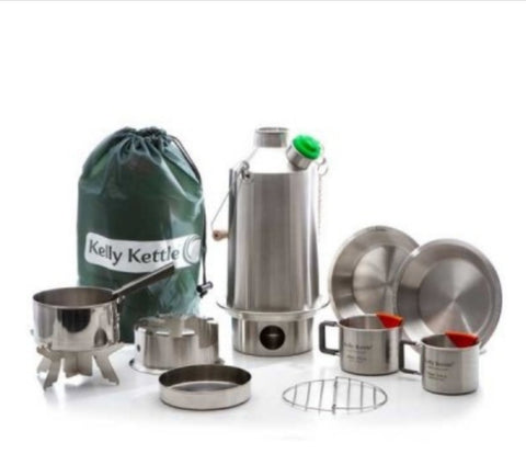 Kelly Kettle Ultimate Base Camp Kit Stainless Steel - NEW MODEL