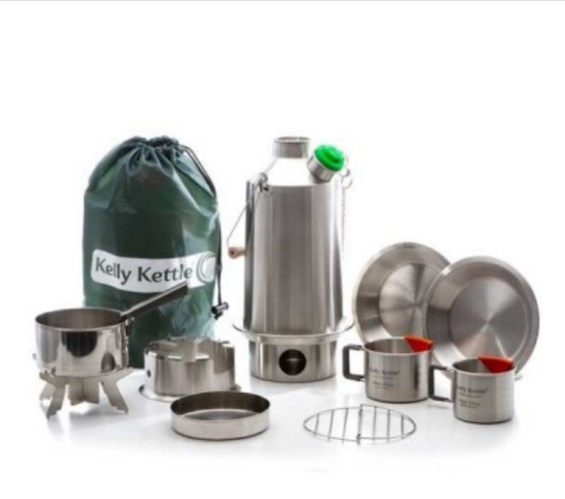 Kelly Kettle Ultimate Base Camp Kit Stainless Steel - NEW MODEL - PREPARE FOR ADVENTURE