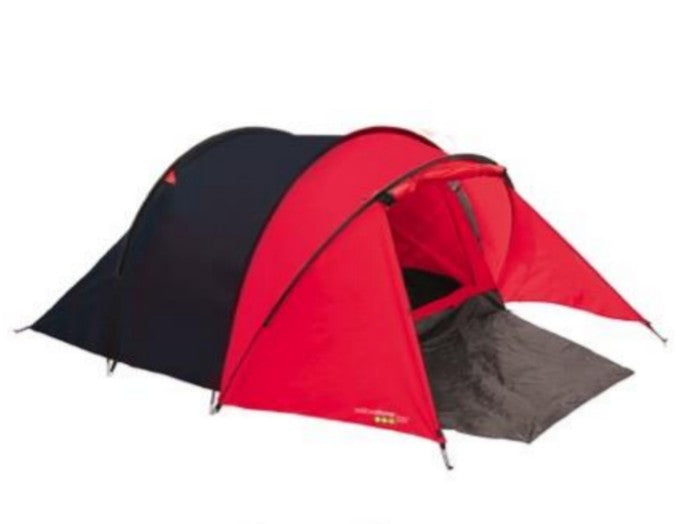 Peak Dome Tent With Porch - 3 Man - Red - Yellowstone - PREPARE FOR ADVENTURE