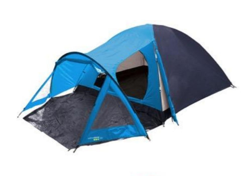 Peak Dome Tent With Porch - 4 Man - Blue - Yellowstone