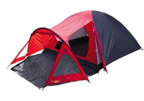 Peak Dome Tent With Porch - 4 Man - Red - Yellowstone - PREPARE FOR ADVENTURE
