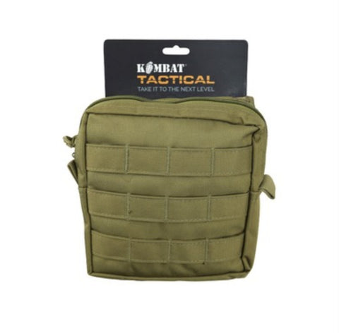 Medium Molle Pouch - Storage - Hiking Camping Bushcraft - Coyote Brown