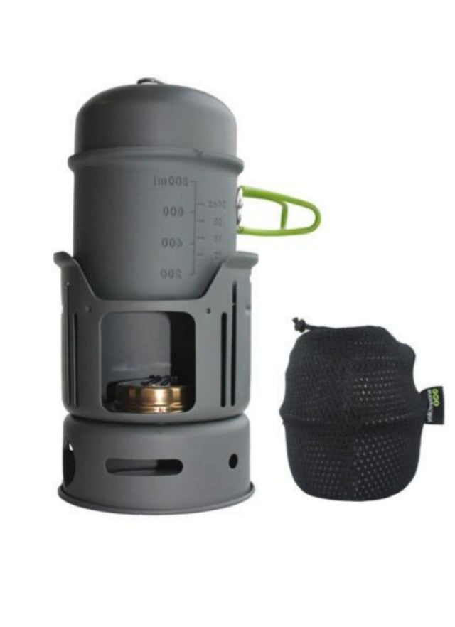 Lightweight Spirit Burning Stove And Cook Set - Solo Wild Camping Full Cooking Kit - Yellowstone - PREPARE FOR ADVENTURE