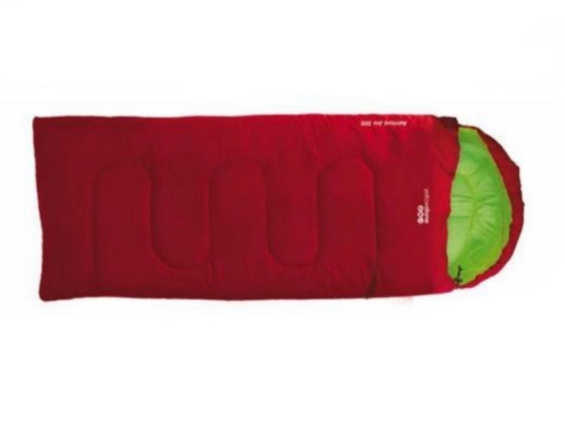 Junior Sleeping Bag - Ashford 300 - Red - Yellowstone - PREPARE FOR ADVENTURE