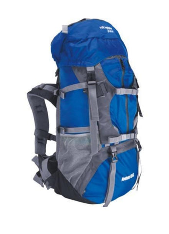 Camping 65ltr + 5ltr Adventurer Rucksack - Blue/Grey - Yellowstone - PREPARE FOR ADVENTURE