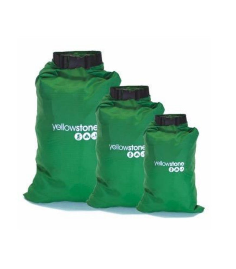 Waterproof Dry Bags - 3 Pack - 2ltr 4ltr 8ltr - Storage - Yellowstone - PREPARE FOR ADVENTURE