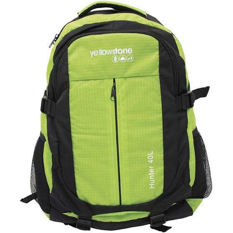 Hiking 40ltr Day Pack - Trekking Rucksack - Green - Yellowstone