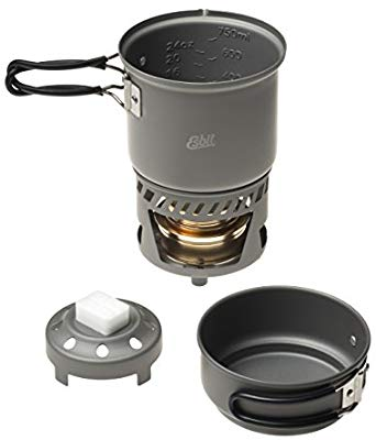 Esbit 985ml Cookset Anodised Aluminium (Spirit/Solid Fuel) - PREPARE FOR ADVENTURE