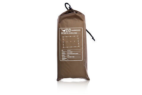 DD Tarp XL 4.5x3m - Coyote Brown - PREPARE FOR ADVENTURE
