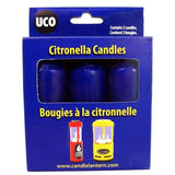 UCO Citronella candles - 9 Hour Burn Time - Original And Chandelier Lantern - Pack Of 3