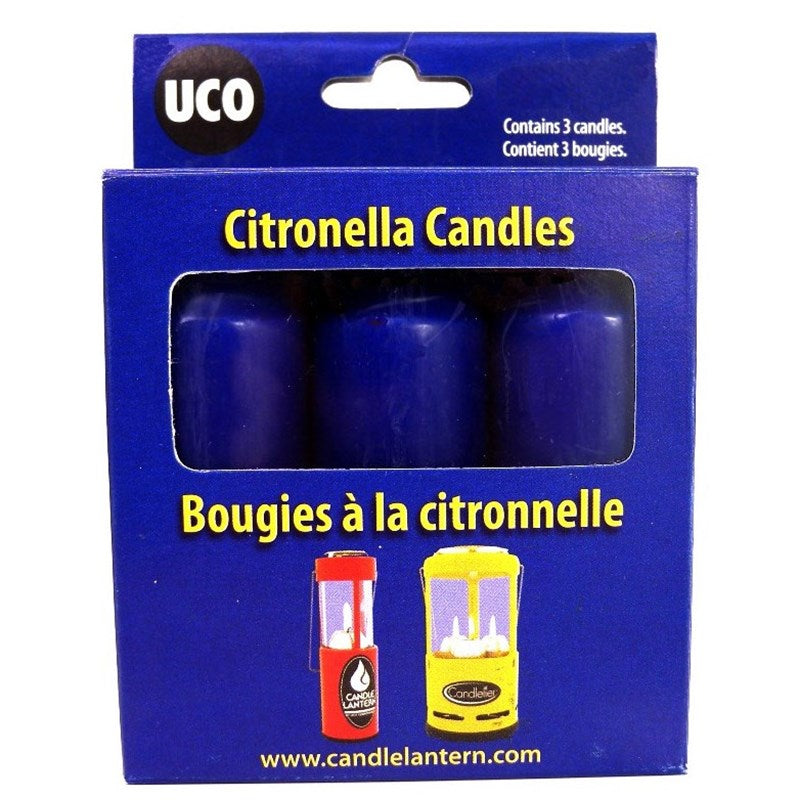 UCO Citronella candles - 9 Hour Burn Time - Original And Chandelier Lantern - Pack Of 3 - PREPARE FOR ADVENTURE