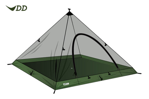 DD Superlight Pyramid Mesh Tent - PREPARE FOR ADVENTURE