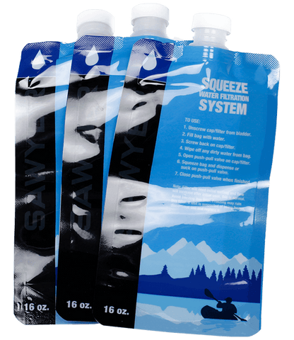 Sawyer 16oz Squeezable Pouch - Set Of 3