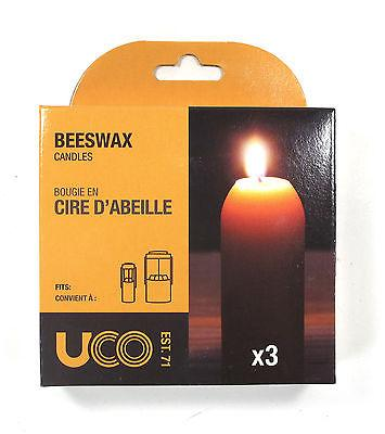 UCO Beeswax Candles - 12 Hour Burn Time - Original And Chandelier Lantern - Pack Of 3