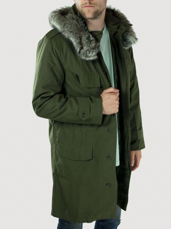 Belgian Army Fur Trimmed Olive Green Mod Parka - PREPARE FOR ADVENTURE