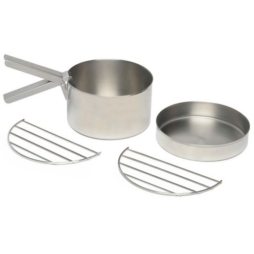 Kelly Kettle Cook Set - Large - Base Camp - Scout - Stainless Steel - PREPARE FOR ADVENTURE