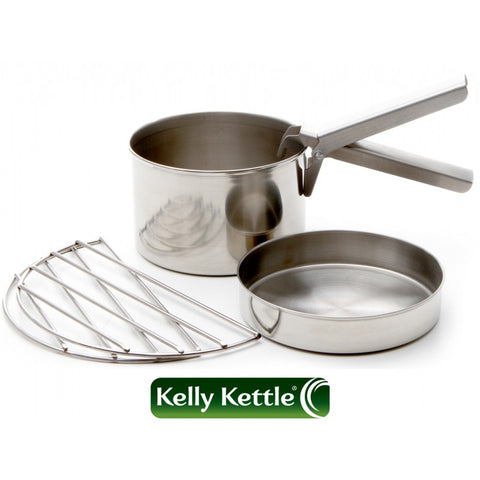 Kelly Kettle Cook Set - Large - Base Camp - Scout - Stainless Steel