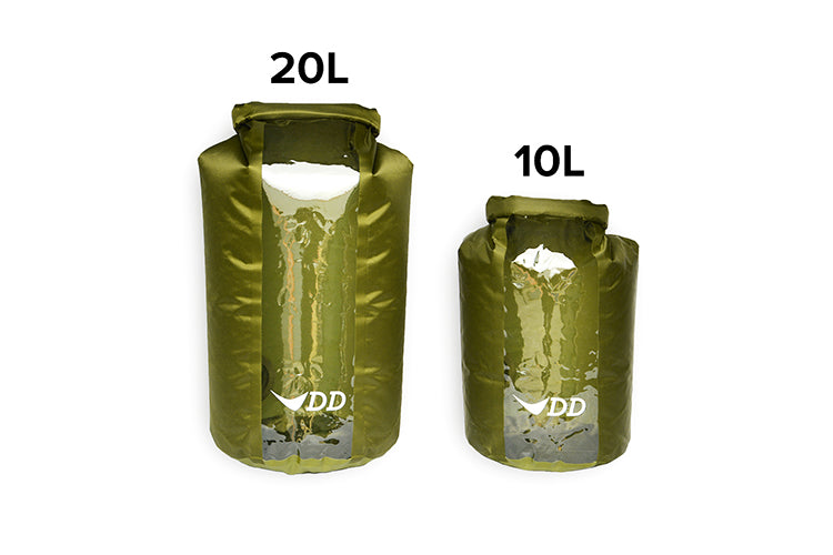 DD Dry Bag - 10ltr and 20ltr Waterproof Storage Sacks - PREPARE FOR ADVENTURE
