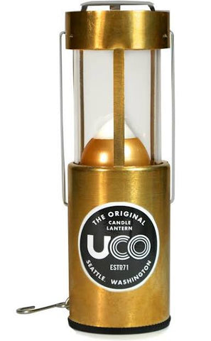 UCO Original Brass Candle Lantern - PREPARE FOR ADVENTURE