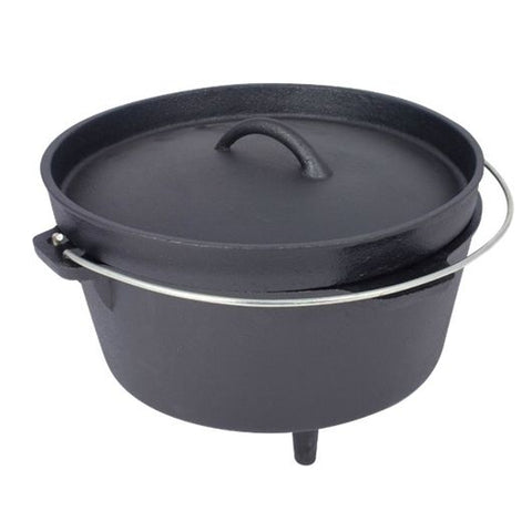Dutch Oven - Cast Iron - 8ltr - PREPARE FOR ADVENTURE