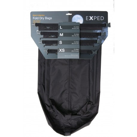 Exped DryBag - 4 Pack - Black - 3, 5, 8, 13ltr - PREPARE FOR ADVENTURE