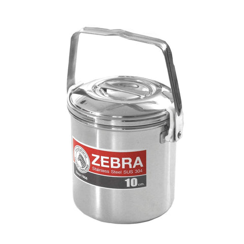 Zebra Loop Handle Pot - Billy Can - 10cm - 0.7ltr - PREPARE FOR ADVENTURE