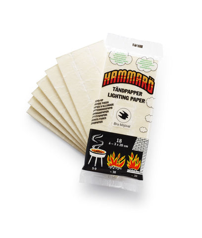 Hammaro Tinder Paper - Fire Starter - Fire Lighter - 30 Fires - PREPARE FOR ADVENTURE
