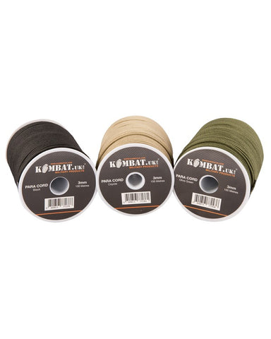 Paracord - 100m Spool - 5 Colours Available