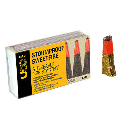 UCO Stormproof Sweetfire Starter - Tinder Matches - Pack Of 20 - PREPARE FOR ADVENTURE