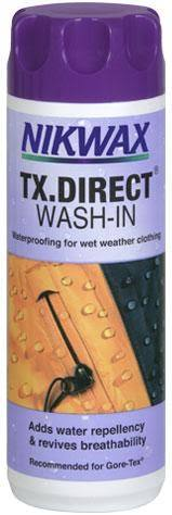 Nikwax TX Direct Wash-In 1ltr - PREPARE FOR ADVENTURE