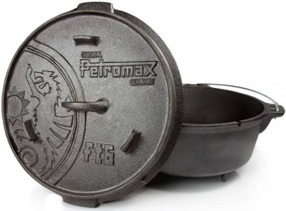 Petromax ft6 Dutch Oven - 5.5ltr - Cast Iron - PREPARE FOR ADVENTURE