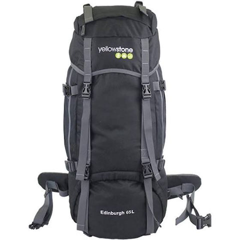 Expetion 65ltr Rucksack - Wild Camping - Black - Yellowstone