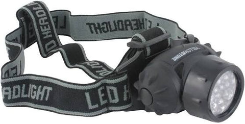 Camping Head Torch - 19 LED - Adjustable Head Strap - Yellowstone