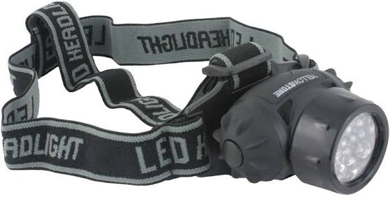 Camping Head Torch - 19 LED - Adjustable Head Strap - Yellowstone - PREPARE FOR ADVENTURE