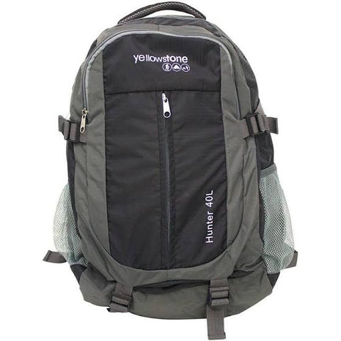 Hiking 40ltr Day Pack - Trekking Rucksack - Charcoal - Yellowstone