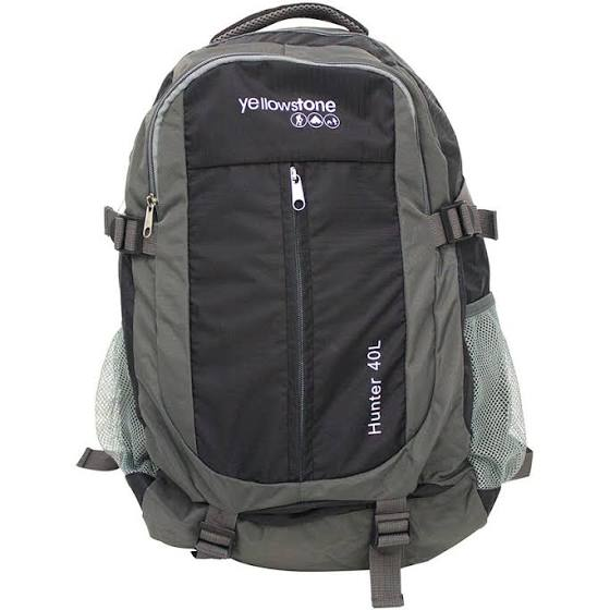 Hiking 40ltr Day Pack - Trekking Rucksack - Charcoal - Yellowstone - PREPARE FOR ADVENTURE