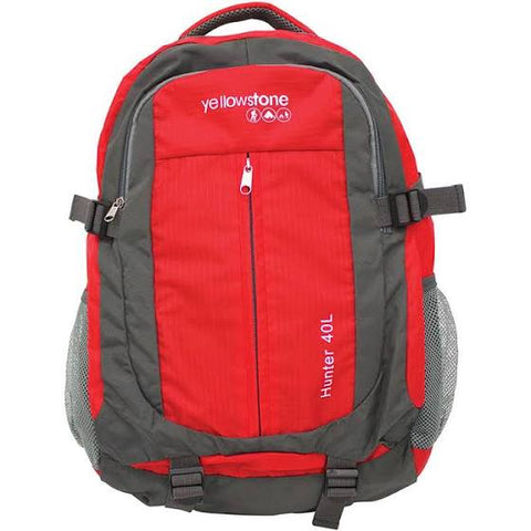 Hiking 40ltr Day Pack - Trekking Rucksack - Red - Yellowstone