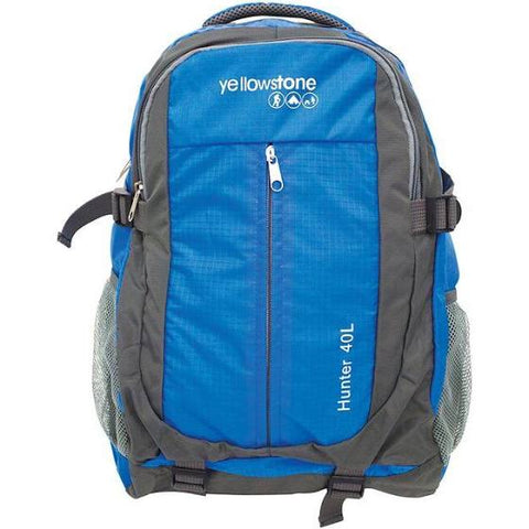Hiking 40ltr Day Pack - Trekking Rucksack - Blue - Yellowstone