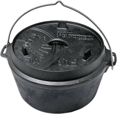 Petromax ft9 Flat Base Dutch Oven - 7.5ltr - PREPARE FOR ADVENTURE