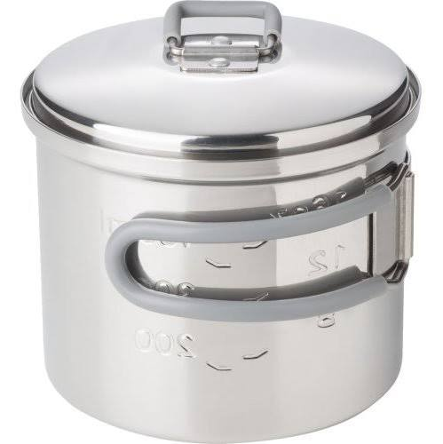 Esbit Stainless Steel Pot With Lid - 625ml - PREPARE FOR ADVENTURE