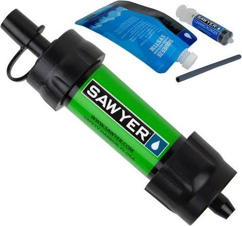 Sawyer Mini Water Filter - Green - PREPARE FOR ADVENTURE