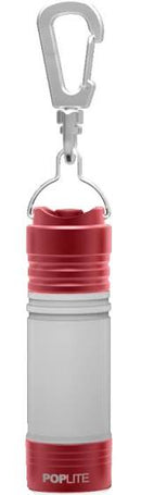 IProtec Pro Poplight  - Key Chain Lantern - Red - Black - PREPARE FOR ADVENTURE