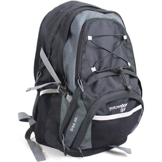 Hiking 30ltr Day Pack - Orbit Rucksack - Charcoal/Black - Yellowstone - PREPARE FOR ADVENTURE