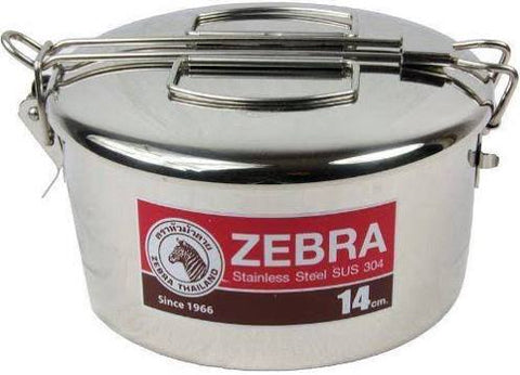 Zebra 14cm Stainless Steel Camping Cook Pot - Lunch Box - Billy Can