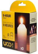 UCO Candles - 9 Hour Burn Time - Original And Chandelier Lantern - Pack Of 3 - PREPARE FOR ADVENTURE