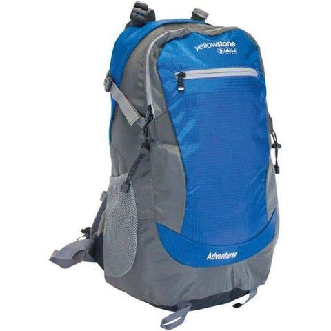 Hiking 30ltr Day Pack - Adventurer Rucksack - Blue - Yellowstone - PREPARE FOR ADVENTURE