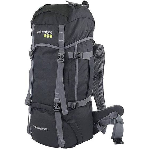 Expedition 55ltr Rucksack - Camping - Black - Yellowstone