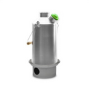 Kelly Kettle Base Camp 1.6 ltr - Stainless Steel New Model + Green Whistle - PREPARE FOR ADVENTURE