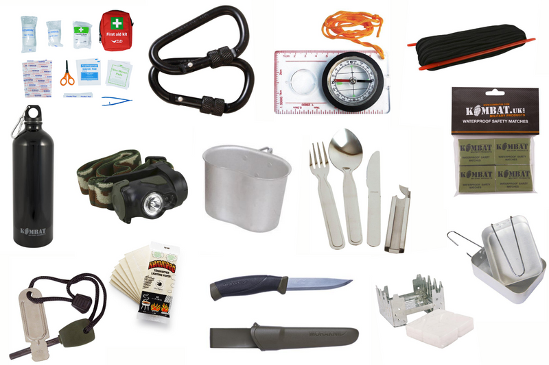 Ultimate Survival Kit - Perfect For Bushcraft And Wild Camping - Fire Starting - Cooking - Navigation - Knife - Paracord - First Aid - PREPARE FOR ADVENTURE