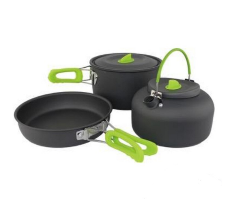 Lightweight Cook Set - Kettle - Frying Pan - Sauce Pan - Yellowstone - PREPARE FOR ADVENTURE
